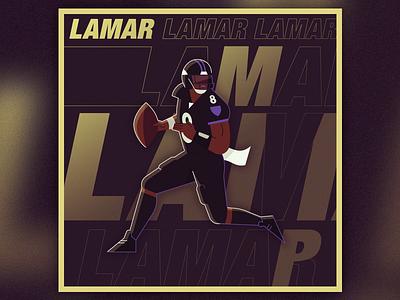 MVP maryland typography texture flat vector illustration football nfl mvp baltimore ravens jackson
