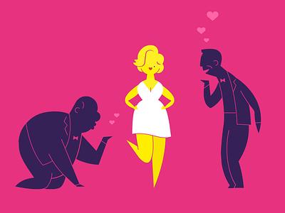 Marilyn celebrity blonde marilyn monroe characters illustration design