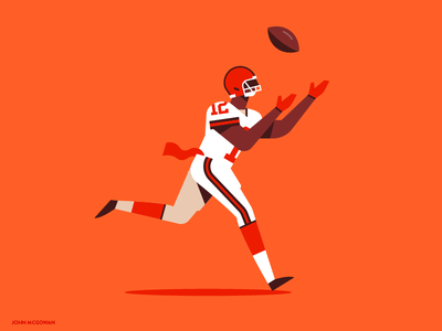 ⚡️ Josh Gordon ⚡️ browns cleveland 2d design vector flat football nfl josh gordon