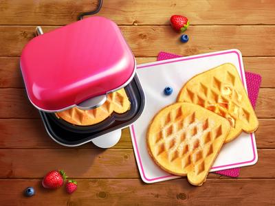 Waffle illustration
