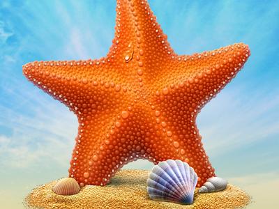 Starfish icon illustration cisco orange artua
