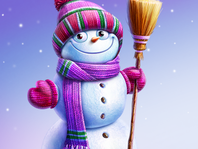 Snowman icon christmas illustration cisco artua