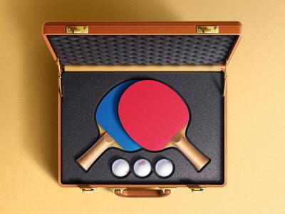 Ping pong illustration.