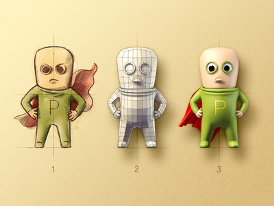 P-Man character design