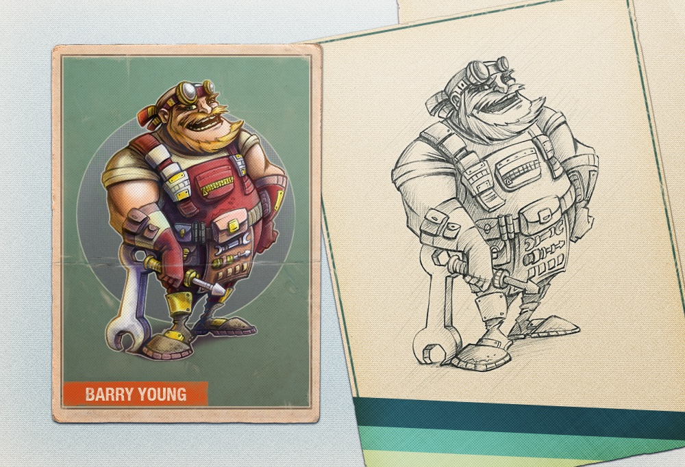 Highres version and pencil sketch