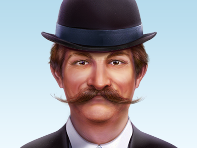 A Man With Moustache illustration man icon cisco artua