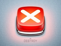 Destroy app icon