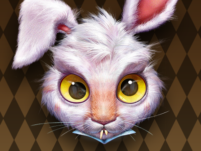 March Hare fur icon illustration character artua