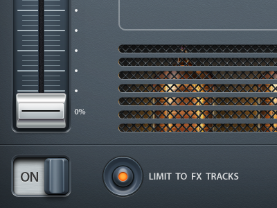 iOS app UI ios ui gui music button controller interface app frutty loops artua