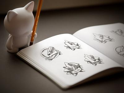 Cat empire artua sketch illustration pencil sketchbook metaphors icon paper cat diy vinyl photo