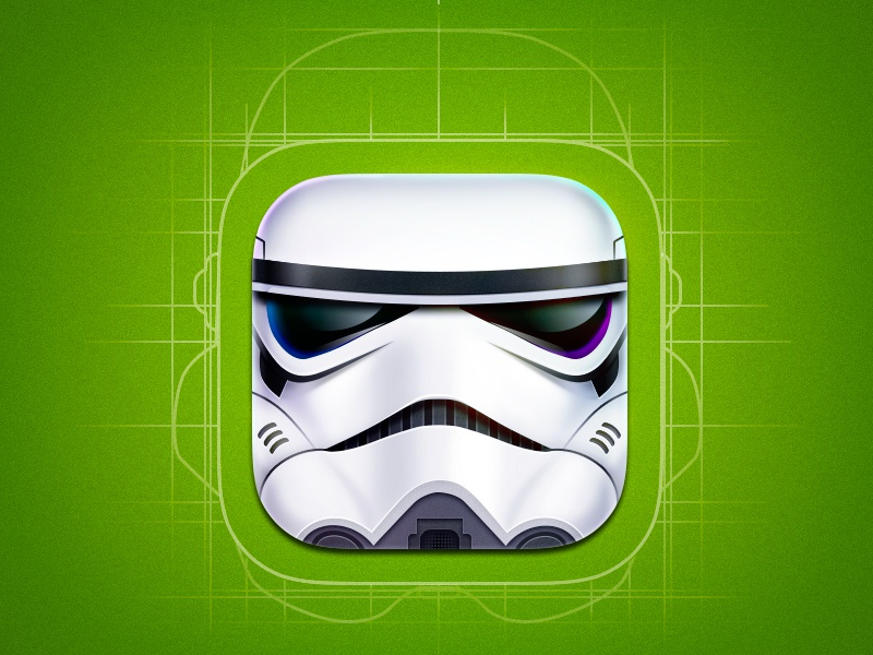 Clone Trooper artua icon illustration ios star wars clone trooper mask white movie character