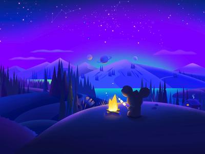 Sleepiest app animation background art app design parallax aniamted gif animation ios character illustration artua