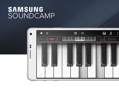 Samsung Soundcamp app design knobs soundcamp mixer piano drums android app design ux gui music app samsung artua
