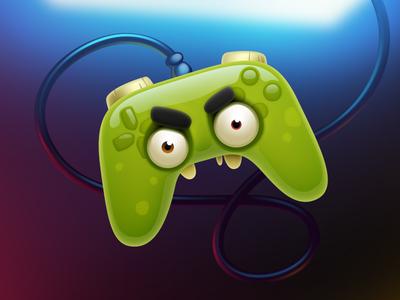 Evil Pads! zombie monster evil gamepad pad illustration icon artua
