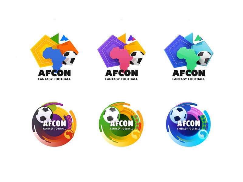 Football fantasy logo concepts league fantasy africa sport football soccer app icon logo icon illustration artua