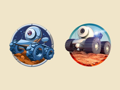 Mars Rover concept surface mars planet space mars rover illustration icon artua