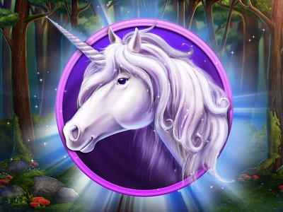 Unicorn anima magic forest symbol game design horse unicorn illustration icon artua