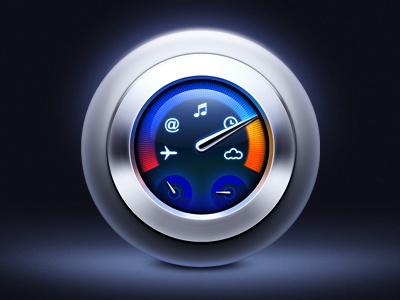Dashboard icon icon dashboard glass metal artua