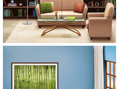 The Interior icon illustration interior artua
