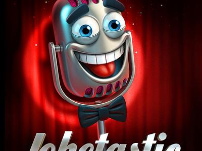 Joketastic illustration character microphone artua