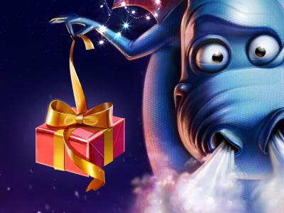 Merry Christmas and Happy NY! merry christmas illustration dragon egor artua