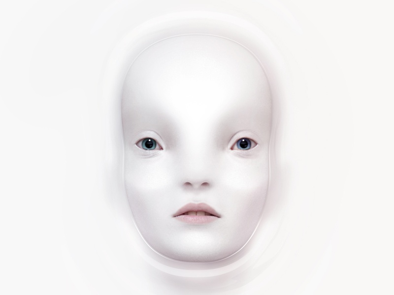 A face in water alien human water face character design illustration artua