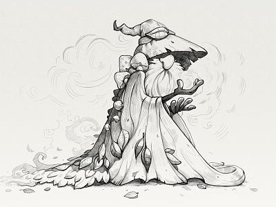 Character sketch magic human game design design wizard sketch character game illustration icon artua