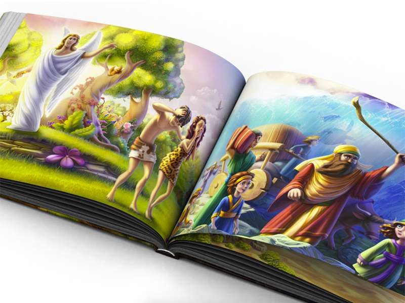 Rescued book illustration print book character human design old testament religion bible illustration artua