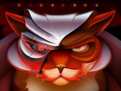 Another evil cat character design pilot animal evil cat game art game design character illustration artua