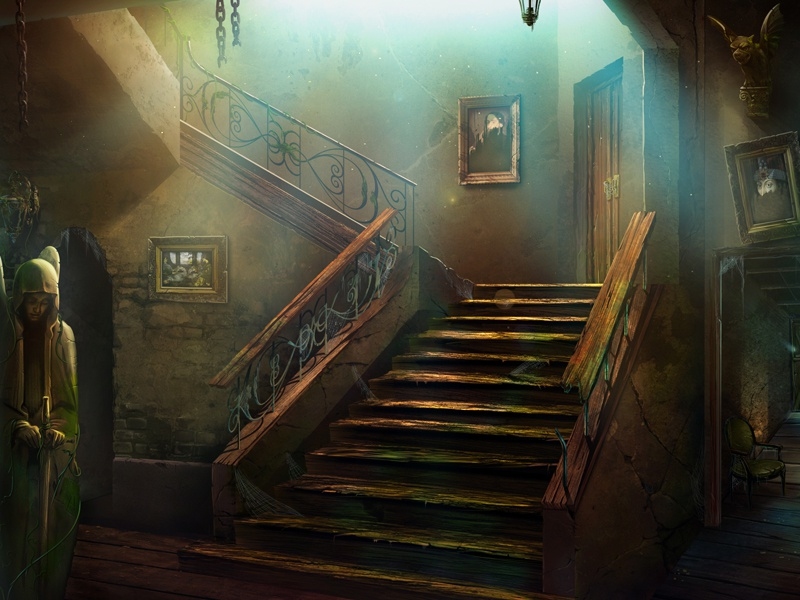 A Mystery interior room house game artwork design mysticism mystery game art game design background illustration artua