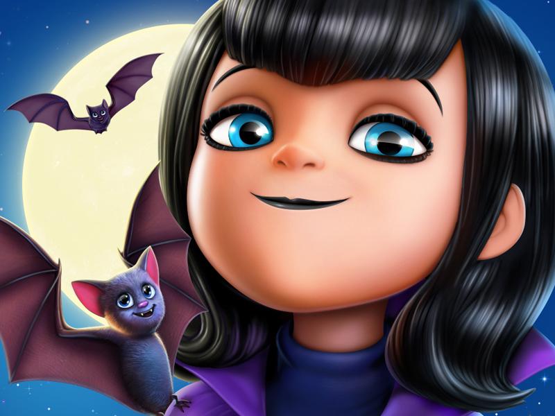 Mavis person vampire movie character character design game art game design illustration icon artua