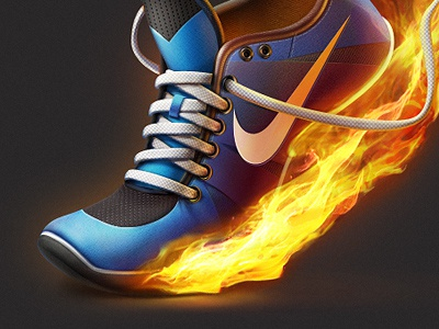 Get Moving Icon app icon game design game art icon sport shoes fire well known sport wear artua