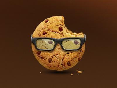 Smart Cookie icon icon illustration cookie glasses yummy artua