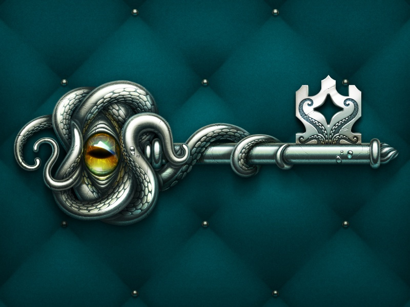 A Key ux ui loot box key ios design game game art game design illustration icon artua
