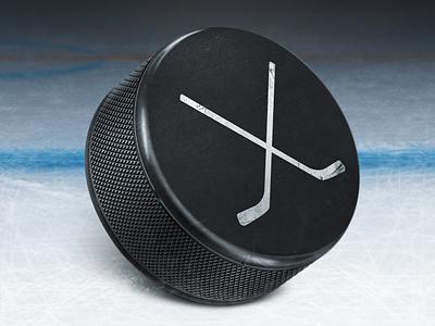 Ice Hockey illustration  icon illustration ice hockey sport puck ice hockey stick artua