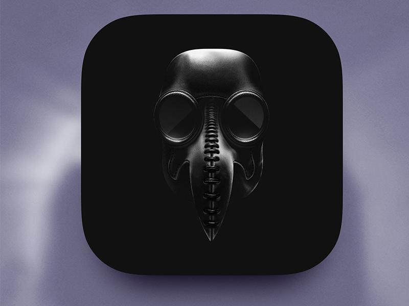 Lunatix icon horror doctor medic medieval plague mask sketch design app icon game ios game art game design icon illustration artua