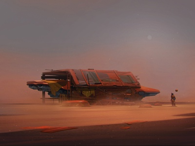 Desert Planet fiction futuristic spacecraft travel space planet desert human concept character design character game art game design illustration artua