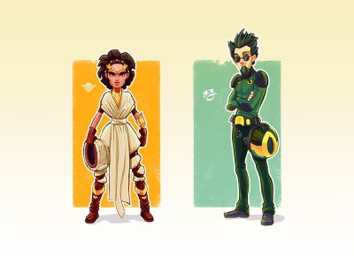 Pilots characters sci fi pilot syfy sketch concept human character design game game art game design character illustration artua