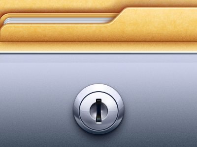 Remotely App icon illustration lock safe documents folder artua