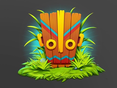 The Mask character design totem mask concept slot game symbol icon ios game art design game icon character game design illustration artua