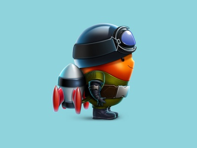 Rocket Boy kid superhero rocket ios human sketch character design concept design game game art game design character illustration artua