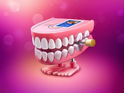 Walking teeth illustration