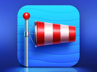 Wind Master app icon - Final icon artua ios app icon wind tracking tracker windsurfing forecast weather