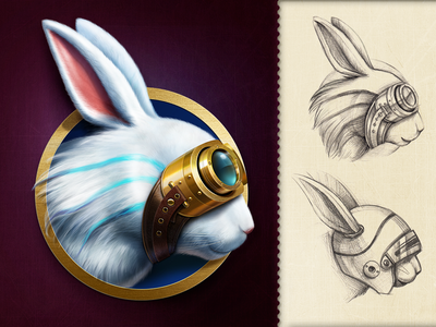 AppleJack Logo app icon game art character design ui design game design icon logo character rabbit artua