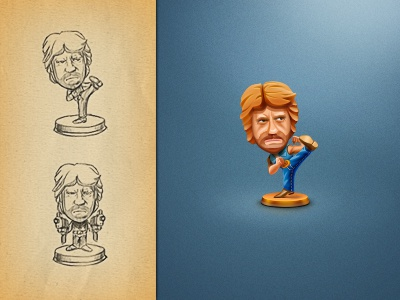Chuck Norris ui design game design character design artua icon trophy badge illustration chuck norris