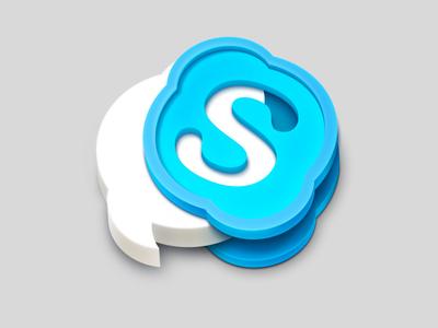 Skype icon artua icon illustration skype