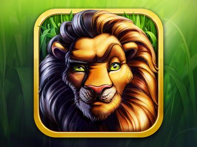 Wild Game Reserve logo  artua icon illustration logo lion animal