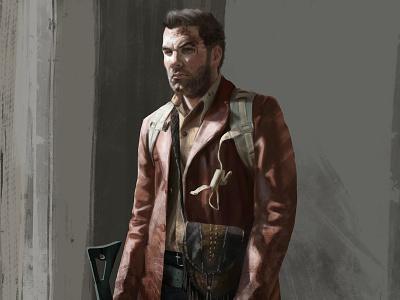 Matt concept art character design soldier apocalypse design illustration