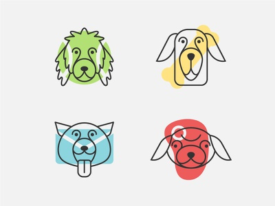 Doggie Icons line art icon minimal icons dog