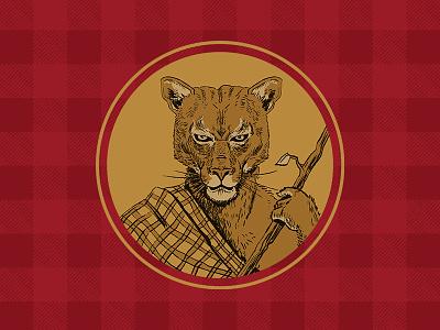 Cougar Flanimal Icon badge illustration icon